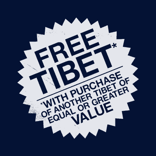 Free Tibet (With Purchase)