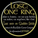 Lost: One Ring Tshirt