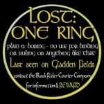 Lost: One Ring Tshirt
