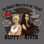 Buffy Vs. River Tshirt