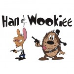 Han and Wookiee Tshirt