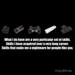 Particular Set of Gaming Skills Dark Tshirt