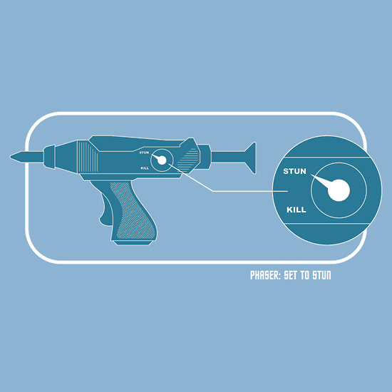 Phaser: Set to Stun.