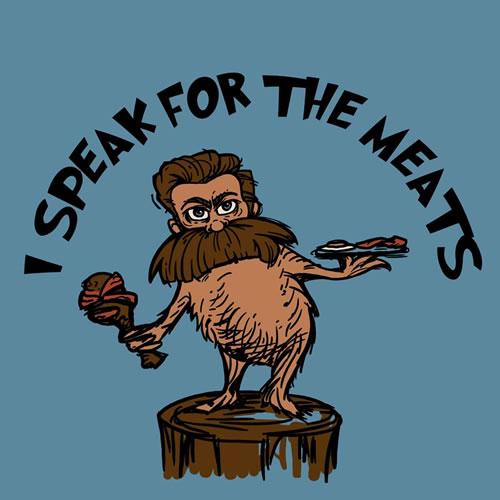 i speak for the meats t shirt by karen hallion