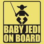 BABY JEDI ON BOARD Tshirt