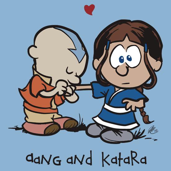 Aang & Katara (Avatar / Calvin & Hobbes)