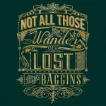 Tolkien Typography – Gold Tshirt