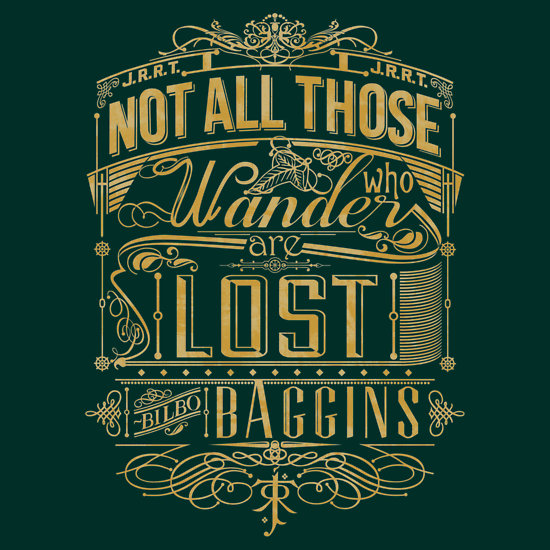 Tolkien Typography – Gold