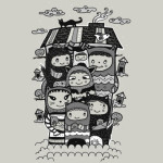 Happy Monster Family Tshirt