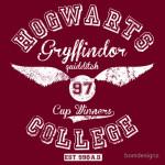 Hogwarts College Gryffindor 1997 Quidditch cup winners Tshirt